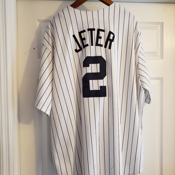 watch f09ff 228a9 NY Yankees Jeter #2 Men's Jersey Size 4XL
